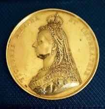 Extremely Rare Queen Victoria 1887 Golden Jubilee 22-Carat Gold Medal