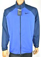 Nike Mens Track Jacket New XXL Blue Performance Long Sleeve Training Athletic