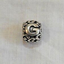 Old New Stock Italian Sterling Silver Letter G Bead Charm