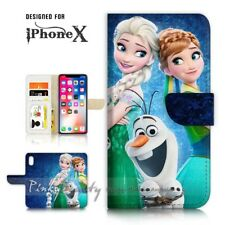 ( For iPhone XR ) Wallet Case Cover P21553 Frozen Elsa Anna Olaf
