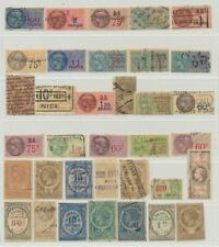 France Small Collection of 35 Revenue Fiscal Stamps Used