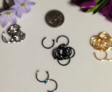 STAINLESS STEEL NOSE RING PIERCING