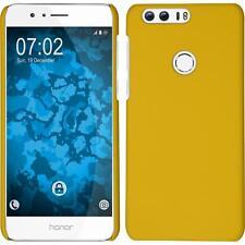 Custodia Rigida Huawei Honor 8 - gommata giallo + pellicola protettiva