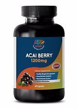 Magnesium Stearate - ACAI BERRY 1200MG - Full Body Detox with Antioxidants - 1B