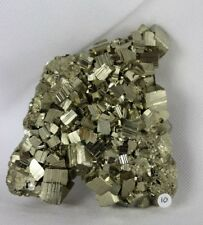 10) Pyrite Crystal Cube Formation Fools Gold Iron Great Gift - High Grade PERU