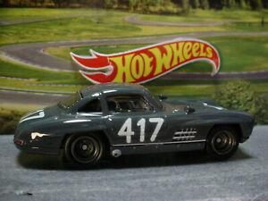 Iconic Race Car MERCEDES-BENZ 300 SL☆gray;417☆Hot Wheels CAR CULTURE☆Loose