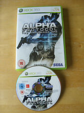 XBOX 360 GAME - ALPHA PROTOCOL The Espionage RPG   *No Manual*     *FREE UK P&P*