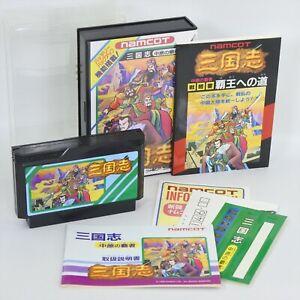 SANGOKUSHI CHUGEN NO HASHA with Book Famicom Nintendo 0117 fc