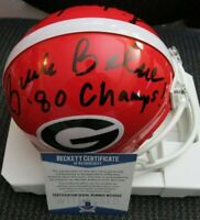 LINDSEY SCOTT BUCK BELUE SIGNED 1980 GEORGIA BULLDOGS MINI HELMET BECKETT COA