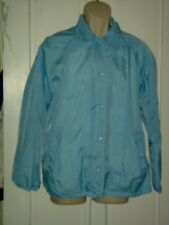 Windbreaker Jacket mens coat flannel lined light blue nylon PREPPY chest=38 M L