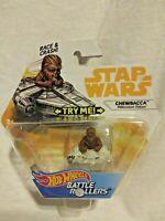 Star Wars Hot Wheels Battle Rollers Chewbacca Race & Crash New