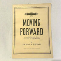 Vtg Moving Forward Hinrichsen No.863 Thomas Johnson Sheet Music Read Play Grd 3