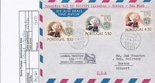 STORIA POSTALE - POSTA AEREA - PA0371 - PRIMO VOLO LISBONA BOSTON - 5.00€