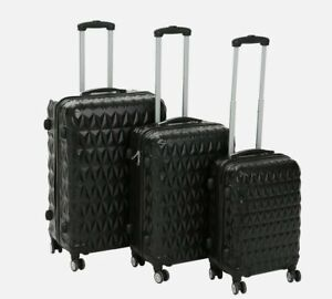 STOCK CLEARANCE Hard Shell Travel Luggage Suitcase 4 Wheel Spinner Trolley Cases