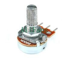 Control De Tono Volumen Estéreo Potenciómetro Lineal B Ohm LIN Plata Perilla De Aluminio