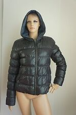 LIU JEANS by LIU-JO Black Reversable Hooded Puffer Coat Jacket Sz IT46/US6-8/S-M