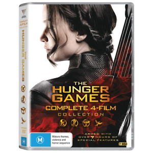 "THE HUNGER GAMES  COMPLETE MOVIE COLLECTION 7 DISCS DVD BOX SET R4 ""NEW&SEALED"""