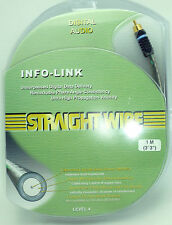 Straightwire INFO-Link RCA Pure Silver Coaxial Digital Audio Cable 1 Meter NEW