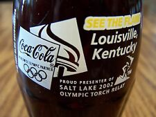 OLYMPIC  TORCH  RELAY,  Louisville,  Kentucky  2002,  1 - 8  Oz Coke Bottle