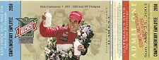 2003 87th INDIANAPOLIS 500 NEW UNUSED TICKET INDY CAR HELIO CASTRONEVES no stub