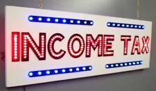 """NEW INCOME TAX LED neon Sign Professional Quality 31½""""x9¾"""" with Animation"""