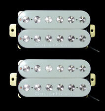 Guitar Pickups - GUITARHEADS FAT POLE HUMBUCKER - Bridge Neck SET 2 - WHITE
