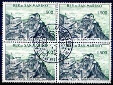 San MARINO 1958 586 timbrato nel sistema di quattro € 280 (z2723