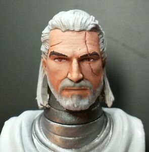 HEAD ONLY Mythic Legion Four Horsemen Custom Painted Geralt the Witcher