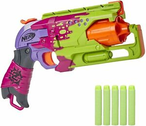 Nerf Hammershot Foam Dart Blaster Revolver Zombie Strike Splatter Green Pink Goo
