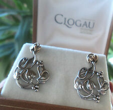LARGER Clogau Welsh 9ct Gold Tree Of Life Earrings - Yellow & White  Gold