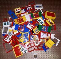 30 Lego Teile Türen Fenster Fensterläden für City Town Haus Konvolut