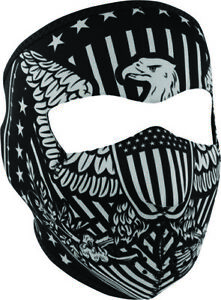 Zan Headgear Black/White Vintage Eagle Face Mask One size fits most Full WNFM412