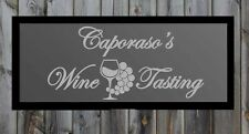"Custom Wine Tasting Bar Frosted Etched Glass Vinyl Sticker Decal 17""h x 36""w"