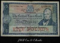 1962 The British Linen Bank £5 Five Pound Note E/12 239532
