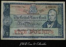 1962 la British Biancheria Banca £ 5 cinque sterlina nota e / 12 239532