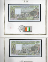 West African Ivory Coast Banknote 500 Francs 1987A P 106Ak UNC Consecutive