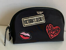 NEW! VICTORIA'S SECRET VS PATCH GLAM COSMETIC MAKEUP TRAVEL POUCH BEAUTY BAG
