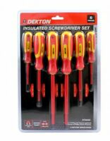6pc Insulated Magnetic Screwdriver Set DIY Anti-slip Electrical Flat Pozi