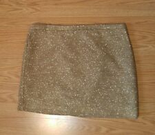 Apt 9 skirt size 16 gold business mini above knee office professional tweed