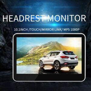 "10.1"" LCD Car Headrest HD Active TV Monitor Pillow DVD MP5 Player Video Screen K"