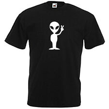 t-shirt geek Humour Alien Peace and love Peace on earth !