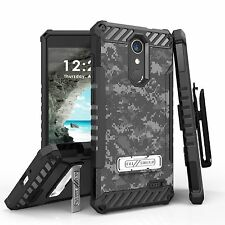 For ZTE Blade Spark / ZMax One/Grand X4 Tri Shield Hybrid Case ACU Digital Camo