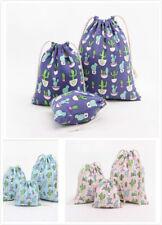 Cotton Canvas Storage Bag Gift Bag Print Cartoon Cactus