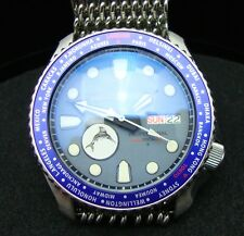 Vintage Seiko divers 7S26 XX MEGA MOD WORLD TIME MARLIN BB SAPPHIRE CRYSTAL J44.