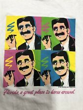 Vintage T Shirt - Florida Is A Great Place To Horse Around White Size L 1988