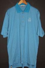 PETER MILLAR Men's Polo GOLF Shirt sz XL Blue Striped WALDORF ASTORIA