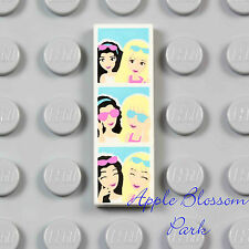 NEW Lego PHOTO BOOTH 1x3 White PRINTED FLAT TILE Female Emma Girl Friends Photos