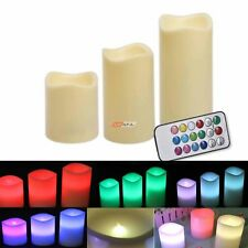 LED Flickering Remote Control Candle Lights Dancing Flameless Candle 3x Large Wa
