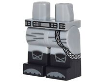 LEGO - Minifig, Hips & Legs w/ Silver Belt & Chain, Knee Pads & Black Boots