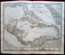 Central America West Indies Caribbean 1862 Berghaus Stieler map British Honduras